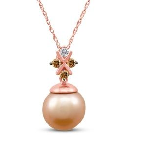 Levian strawberry pearl necklace